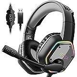 EKSA E1000 USB Gaming Headset for PC - Computer Headphones...