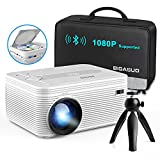 BIGASUO [2021 Upgrade] Full HD Bluetooth Projector with...