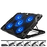 PCCOOLER Laptop Cooling Pad, Portable Laptop Stand with 6...