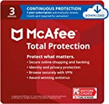 McAfee Total Protection 2021, 3 Device, Antivirus Internet...