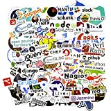 DESIONRON Programming Stickers 100pcs,Cool Vinyls Graffiti...