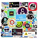Honch Vinyl Developer Programming Stickers Pack 50 Pcs C++...