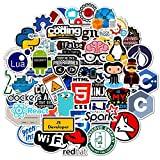 50 Pcs Developer Programming Stickers, Vinyl Waterproof...